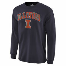 Illinois Fighting Illini Campus Long Sleeve T-Shirt - Navy - College