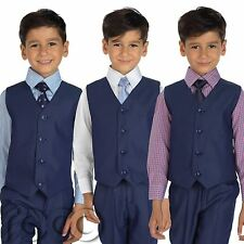 Blue Page Boy Suits, Boys Suits, Boys Waistcoat Suits, 3 months - 8 years