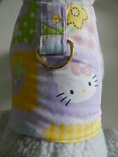 DOG CAT FERRET~Hello Kitty Patch Work Cute Pink Harness