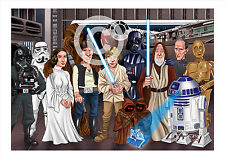STAR WARS artwork print caricature Episode 4 A3/A4 sizes signed