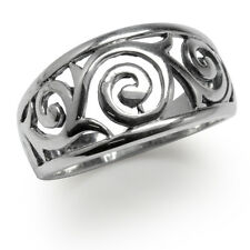 925 Sterling Silver Filigree Spiral Victorian Style Ring
