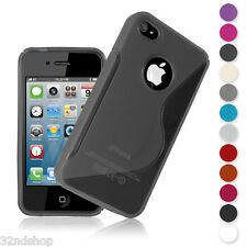 New S-line Series Case Cover for Apple iPhone 4 & 4S + Screen Protector Cloth