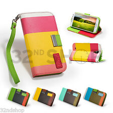 STAND WALLET LEATHER CASE COVER FOR SAMSUNG GALAXY S3 / S4 SCREEN PROTECTOR