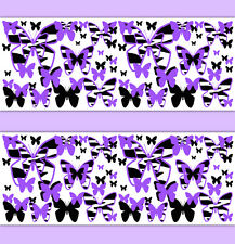 Purple Zebra Animal Print Butterfly Wallpaper Border Wall Art Decal Girl Sticker
