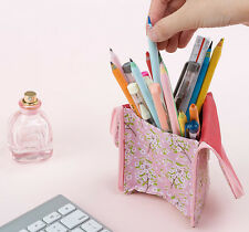 Standing Pencil Pen Case Card Makeup Stationery Pouch Holder Organizer Cute Bag
