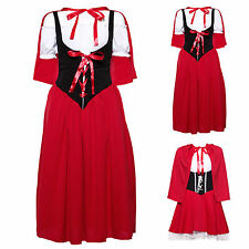Ladies Little Red Riding Hood Fancy Dress Costume Fairy Tale Party Outfit