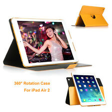 360 Degree Rotating PU Leather Magnetic Case Cover Stand for iPad Air 2