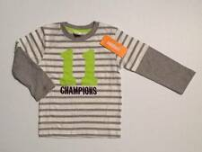 Gymboree NWT Boys Gray Striped Long Sleeve Champions Shirt Top Size 2T & 3T