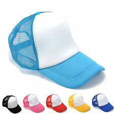 Unisex Mesh Blank Plain Snapback Hats Adjustable Hip-Hop bboy Baseball Cap New
