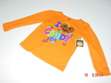 NWT Toddler Girls Halloween Themed Top I Love Candy Orange Shirt New Pumpkin