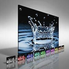 Water Splash Abstract Canvas Print Large Picture Wall Art