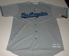 Los Angeles Dodgers Cool Base Jersey Road Gray Plus Sizes Majestic Athletics MLB