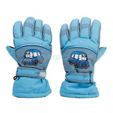 Winter Ski Snowboard Snow Sports Thermal Waterproof Gloves Kids Child Sky Blue
