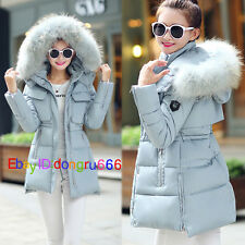 Womens Winter coat cotton Hooded Coat Fur Down Parka Jacket Lady Outerwear