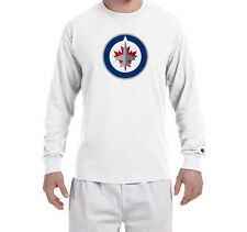 Winnipeg Jets  Champion LONG SLEEVE T-Shirt Tagless T Shirt Adult Mens NEW Tee