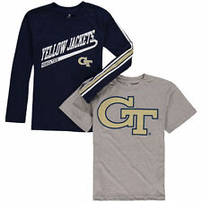 Georgia Tech Yellow Jackets Youth Squad T-Shirt Combo Pack - Navy/Gray - College