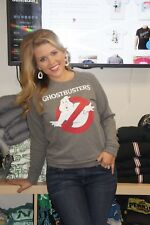 New Authentic Ghostbusters Womens French Terry Crew Neck Pullover