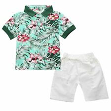 3PCS Toddler Baby Boys Suits tops/shorts/belt Set Kids Clothes Outfits (2 Color)