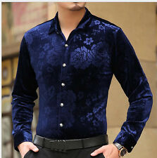 Luxury New Chemise highquality silk Black Golden Print Mens Leopard Dress shirts