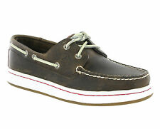 New Mens Sperry Top Sider Cup Brown Leather Boat Deck Casual Shoes Size 6-12 UK