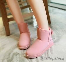 Stylish Women's Ankle Boots Shoes Casual Warm Winter Warm Pull On Snow Casual