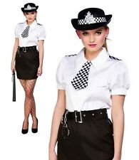 Adults Police Woman Costume Sexy WPC Constable Cutie Ladies Fancy Dress Outfit +