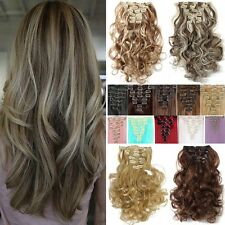 100% Real As Human Thick Hair 18Clips Clip In Hair Extensions Full Head Hair T2z