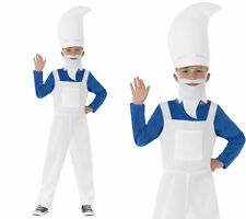 Gnome Boys Fancy Dress Costume Smurf Kids Book Week Outfit 3-6 Years