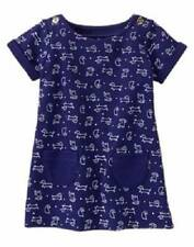 Gymboree NWT Girls Mod About Orange Navy Lots of Doggies Dress 12-18 & 18-24 M