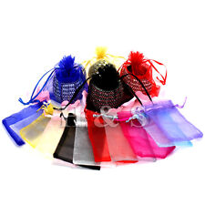 100x Organza Wedding Party Jewellery Gift Favour Bag Pouch Box Large Size 9x12cm