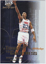 2003-04 UPPER DECK MVP TRIBUTE TO GREATNESS: MICHAEL JORDAN #MJ2 WIZARDS HOF