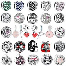 New Fine Crystals Charms Bead For Diy Fashion Woman 925 Sterling Silver Bracelet