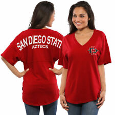 San Diego State Aztecs Women's Spirit Jersey Oversized T-Shirt - Red - College