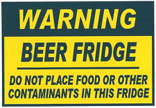 Funny Sign Refrigerator Magnets - Beer Fridge - Now a Larger Size