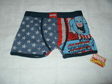 ONE (1) PAIR OF BOYS MARVEL CAPTAIN AMERICA MOTIF BOXER SHORTS AGE 9-10  YEARS