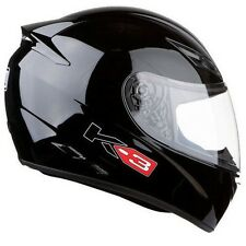 AGV K3 Full Face Motorbike Motorcycle ACU Road Sports Helmet - Gloss Black