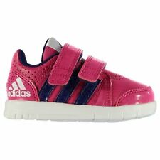 adidas Kids LK Trainers Infant Girls Shoes Ventilations Velcro Cushioned Ankle