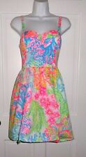 NWT LILLY PULITZER MULTI LOVERS CORAL ARDLEIGH DRESS  8  12 14 16