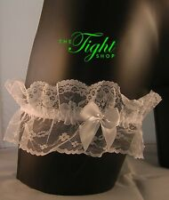 Lace Wedding Garter in White (also available in Blue)