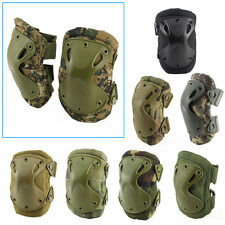 Adjustable Airsoft Tactical Elbow & Knee Protective Pads Skate Knee Pad Combat