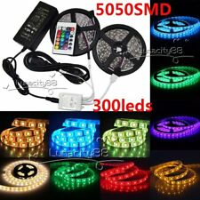 5050 SMD IP20 IP65 RGB White LED Strip Flexible Lights 300leds 5M Tape Lampada