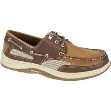 Mens Sebago DK Taupe Brown Leather Clovehitch II Boat Shoes B24351 Size 7-15 (W)