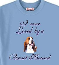 T Shirt Big Dog I am Loved by a Basset Hound 5 Colors # 406 Men's Women Adopt
