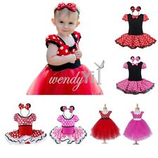 Girls Kids Polka Dot Dress Up Party Fancy Costume Cosplay Ballet Tutu Skirt