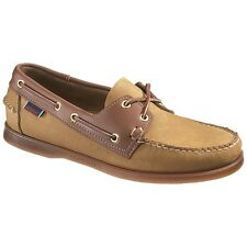 Mens Sebago Brown Tan Leather Spinnaker Boat Deck Shoes B72831 Size 7-13 (E, W)