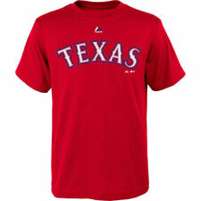 Texas Rangers Majestic Youth Official Wordmark T-Shirt - Red - MLB