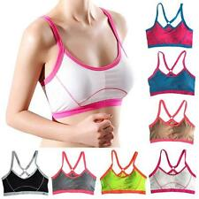 Women Soft Workout Sports Bra Seamless Stretch Gym Fitness Yoga Crop Tops Padded