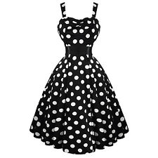 Hearts & Roses London Black White Polka Dot 50s Dress with Bolero Shrug UK