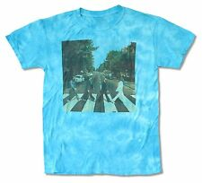 The Beatles Abbey Road Tie Dye Blue Mens T Shirt New Official Album Cover