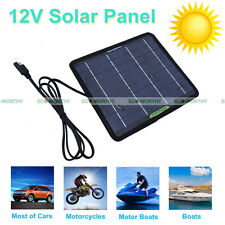 12V 5W/10W/20W  Solar Panel Power With Battery Cilps Battery Charger for Car